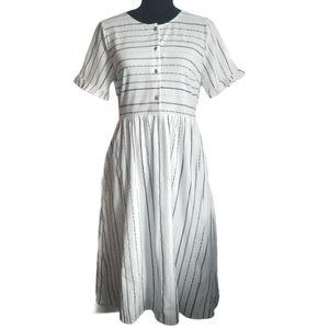 BOHME ANTOINETTE Dress White Midi Aztec NWT